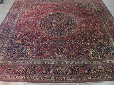 Fine-Old-Persian-Turk-Baff-Meshed-size-4-03m-x-3-90m