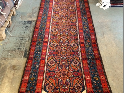 Old Persian Malayer runner size 5.05m x 1.04m