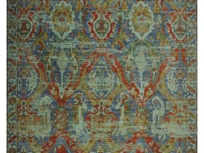 A loom woven 15th century dragon design rug.