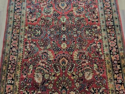 Antique Persian Sarouk 2.03 x 1.35