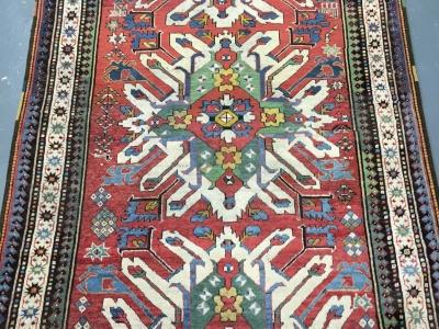 Antique Caucasian Eagle Kazak rug circa 1890 size 2.55m x 1.50m