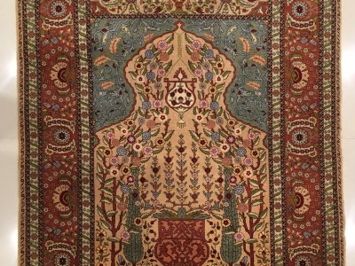 ultra fine Turkish silk Hereke rug