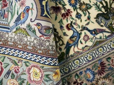 Fine Persian Isfahan rug close up