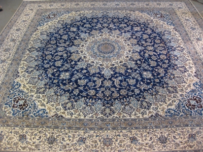 Fine Persian Nain carpet size 4.95m x 4.84m