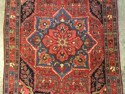 Old Persian Bidjar rug circa 1920 size 1.61m x 1.08m