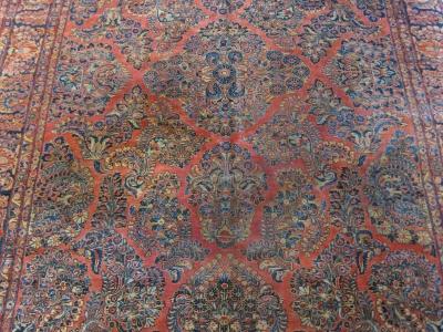 Antique Persian Sarouk size 3.47m x 2.58m