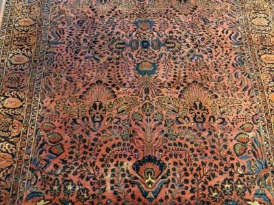Antique American Sarouk carpet size 3.47m x 2.58m