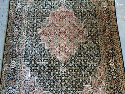 A fine old silk Kashmir rug size 1.89m x 1.24m